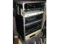 24U Rack Case (plus various items)