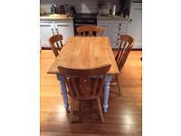 Farmhouse Pine Table & 4 Chairs