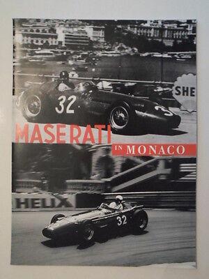 MASERATI IN MONACO Publicity Brochure - Multi Language Text