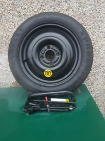 Ford spacesaver wheel and tyre