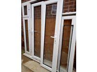 Double & single white UPVC d-glazed doors for sale