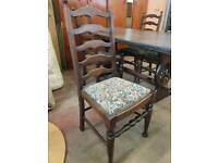 Large oak dining table with 4 chairs