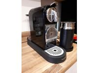 Pre Owned Nespresso Citiz Coffee Machine and Aeroccino 3 Milk Frother.