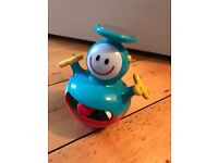 Wobbly musical baby toy