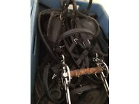 Pony harnesses for sale and Shetland pony exercise cart