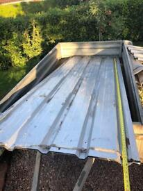 Metal corrugated roof sheets used