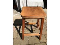 Stools - 3 - wooden (probably beech); approx 60cm ; 55cm; 50 cm tall