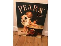 Pears Soap Vintage Advert on Canvas Large