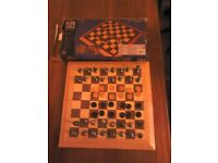 Folding Chess and Draughts set