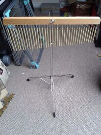 Wind chimes and stand