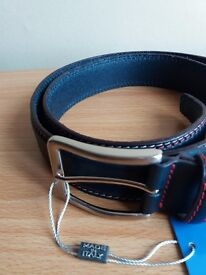 SPARCO BELT IN NAVY BLUE WITH WHITE & RED STITCHES