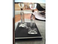 Waterford crystal large pair of candlesticks