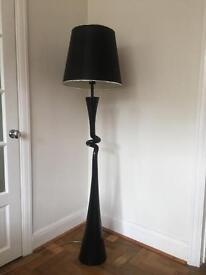 Black gloss ceramic base floor lamp.