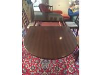 Mahogany extendable dining table