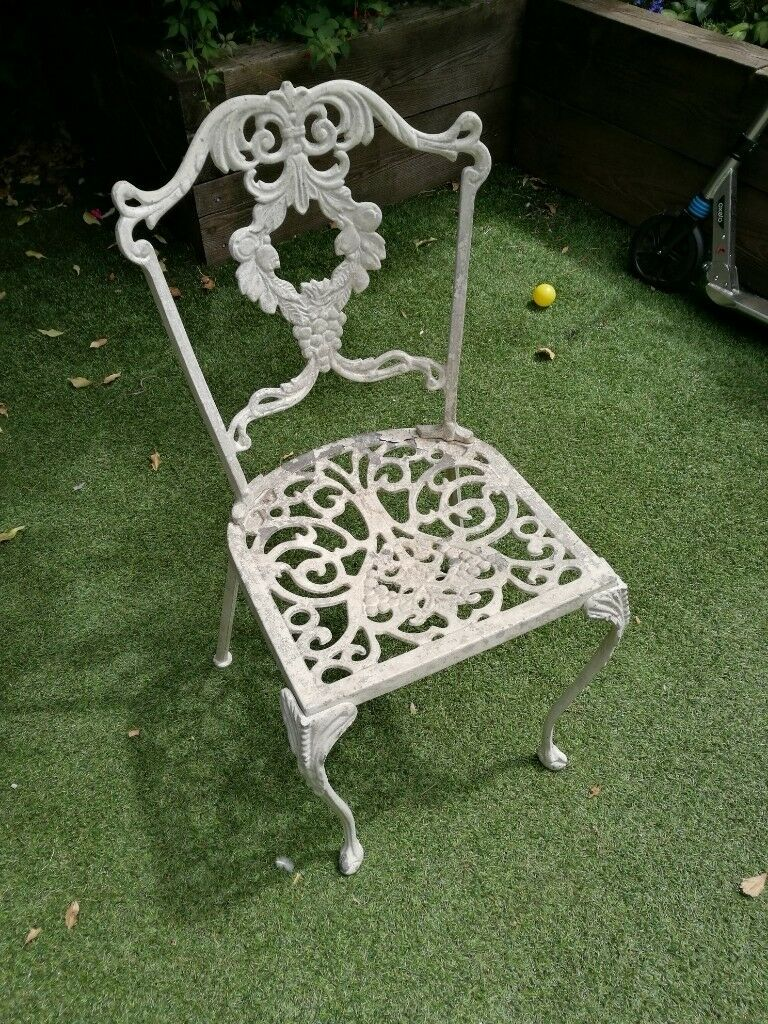 Amazing Vintage Wrought Iron Garden Chairs Set Of 4 Leytonstone In Leyton London Gumtree Andrewgaddart Wooden Chair Designs For Living Room Andrewgaddartcom