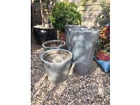 Ikea galvanised pots bundle of 4