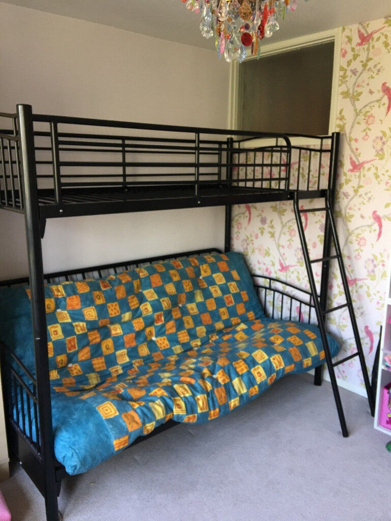 triple bunk bed black sofa bed convert into double bed and single