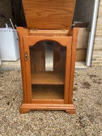 Jentique Teak Stereo HiFi Cabinet with turntable lift top