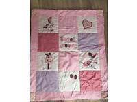 Girls cotbed quilt and bumper set
