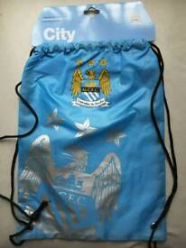 Man city foil print gym bags