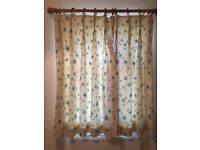 Two pairs of Lined Curtains