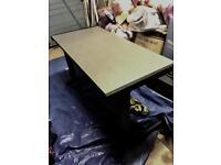 Dark grey office computer table