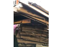 Approx 40 packing boxes for sale.