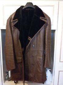 Gent's LeatherCoat - Excellent Condition - size 44 - fur-lined
