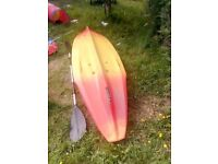 Mysto ocean kayak for sale £150. Very steady on the water. Reason for selling don't use it anymore.