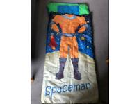 Kids astronaut sleeping bag with carry pouch