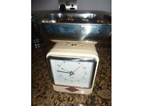 Wesco Retro Kitchen Scales double sided with clock in cream