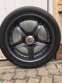 "4 x 18"" Cup alloy wheels"