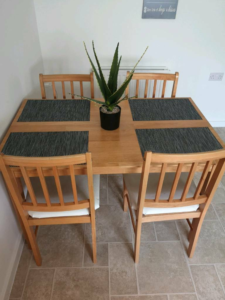 Swell Beech Dining Table And 4 Chairs In Fareham Hampshire Gumtree Customarchery Wood Chair Design Ideas Customarcherynet