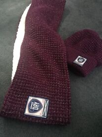 Superdry hat and scarf set never worn