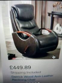 Leather Rocking Recliner Chair + Delivery