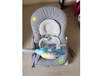 Great condition Chicco baby rocker in grey
