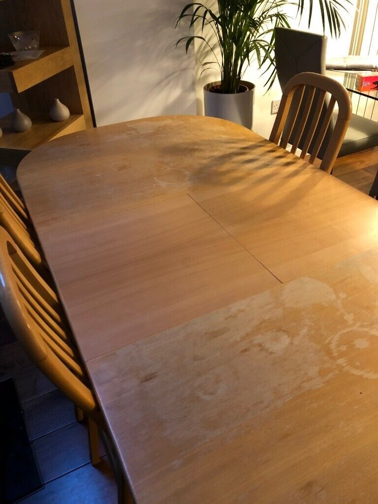 Beech dining table and chairs.   in East Kilbride, Glasgow   Gumtree