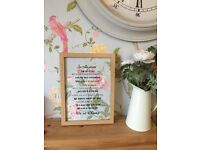 Christmas gift - in this house we do Disney frame with Laura Ashley paper