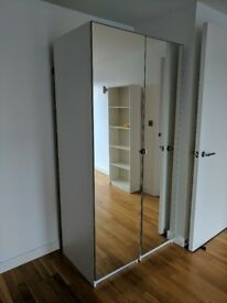 IKEA PAX mirrored wardrobes