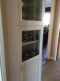 Besta 3 door upright white cabinet