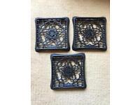 Three Le Creuset Trivets Black