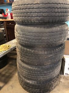 235/70R15 five all season tiers with rims