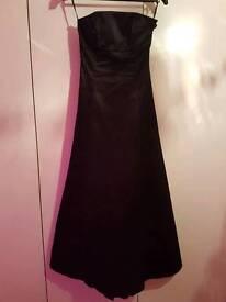 Beautiful Black Satin Prom Dress/Ball Gown 6