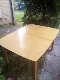 Used Extendable Dining Table with 4 Chairs