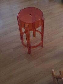 Phillipe Starke Kartel red perspex stool
