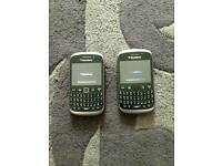 Blackberry curvs x2