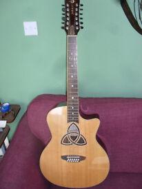 Luna Trinity Grand Concert 12 string guitar for sale