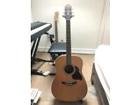 Acoustic Guitar with Case and stand - Model Crafter D6/N