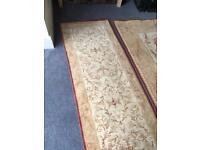 Malmaison gold rug and matching runner
