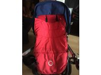 Bugaboo Chamelon Navy Blue Buggy and Carrycot with car seat adaptors